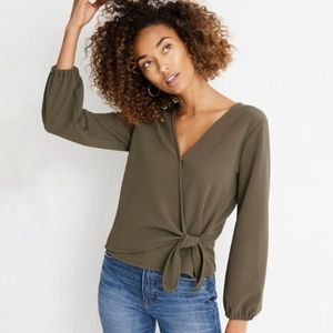 Madewell   Texture & Thread Crepe Wrap Top Size M